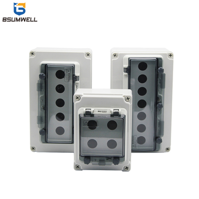 IP65 22mm 1hole,2holes,3holes,4holes,5holes,6holes 86type Plastic Waterproof Push Button Box