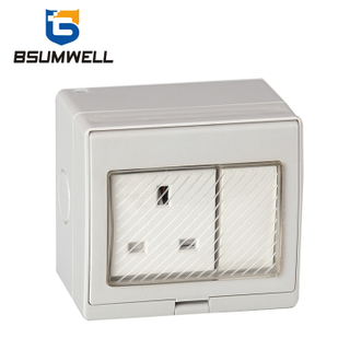 PS2-SS 13A British type IP55 Waterproof 1 Gang 2 Way Switch Socket