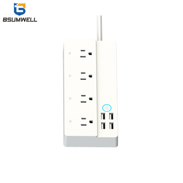 PS331 Smart socket (4 US type AC outputs+4 USB outputs) Work with Alexa