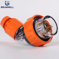 Australia Standard 56PA410 10A three phase 250V/500V 4 round pin Waterproof industrial Angled plug with CE SAA Approval