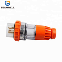 Australia Standard 56P550 three phase 250V/500V 50Amp 3pin to 5 round pin Waterproof straight industrial male plug with CE