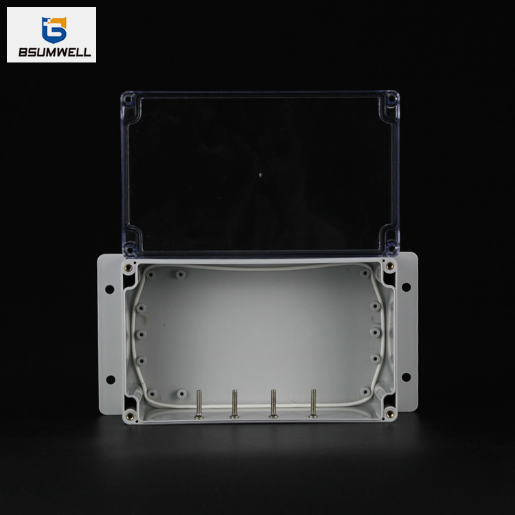 200*120*75mm IP67 Waterproof ABS PC Plastic Junction Box with Ear
