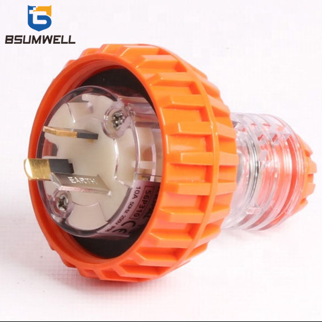 Australia Standard 56P315 3 pin 250V 15A 16a 15 amp waterproof industrial plug with CE Approval